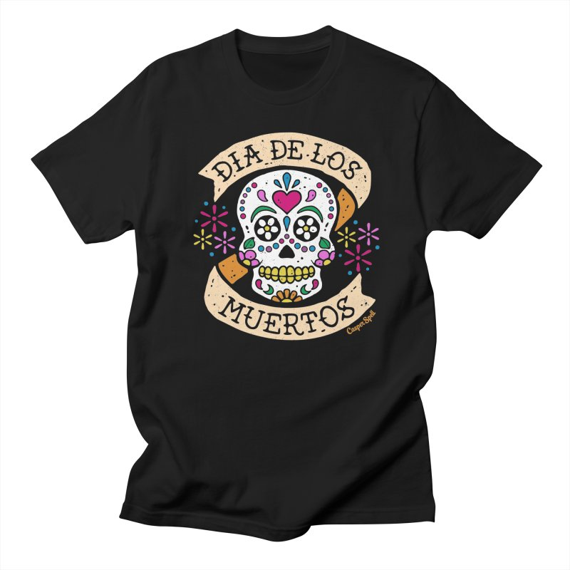 Day of the Dead (Dia de los Muertos) Men's T-Shirt by Casper Spell's Shop
