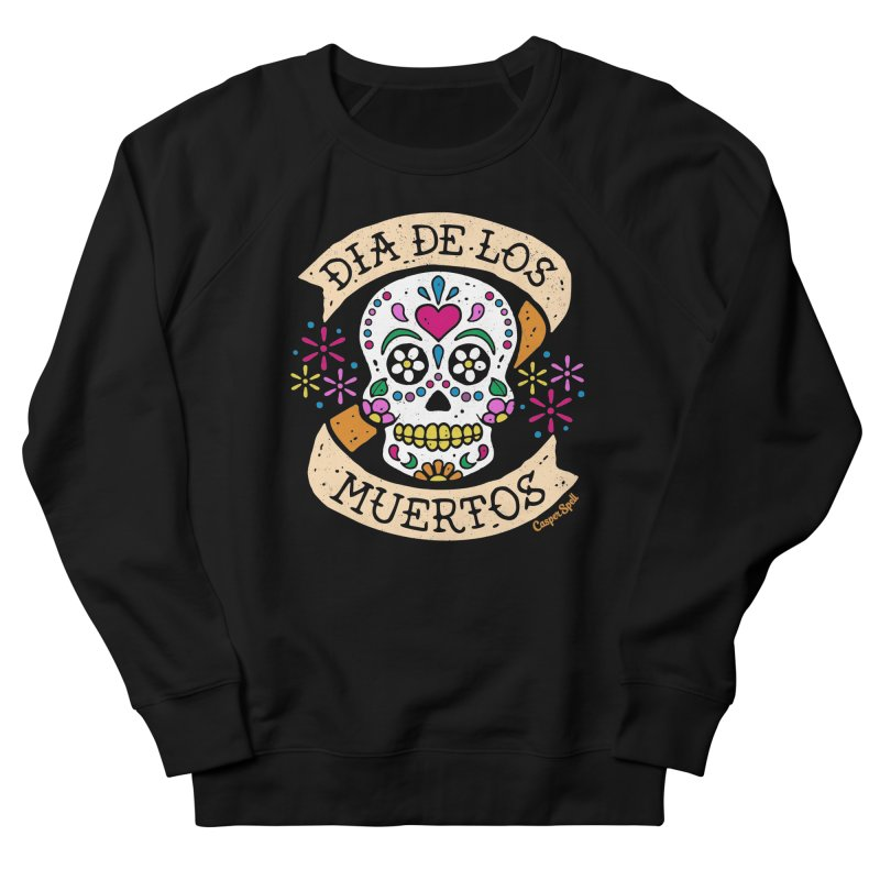 Day of the Dead (Dia de los Muertos) Men's French Terry Sweatshirt by Casper Spell's Shop