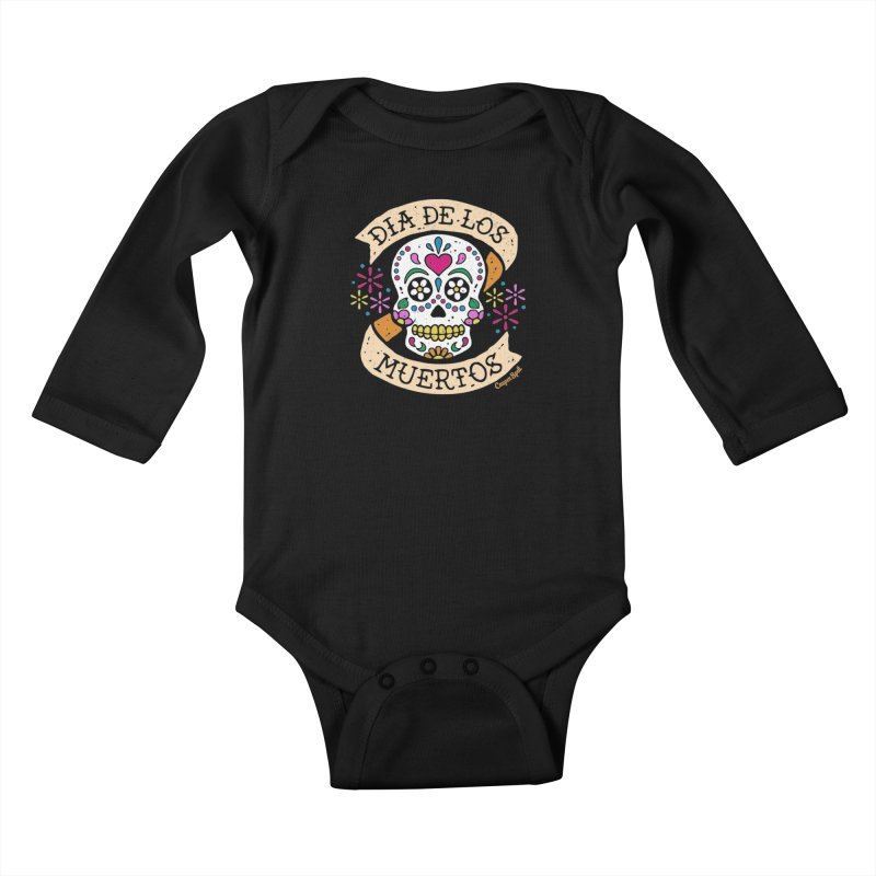 Day of the Dead (Dia de los Muertos) Kids Baby Longsleeve Bodysuit by Casper Spell's Shop