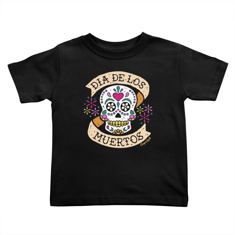 Day of the Dead (Dia de los Muertos) Kids Toddler T-Shirt by Casper Spell's Shop