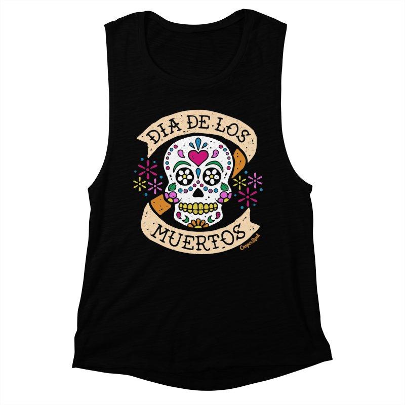 Day of the Dead (Dia de los Muertos) Women's Muscle Tank by Casper Spell's Shop