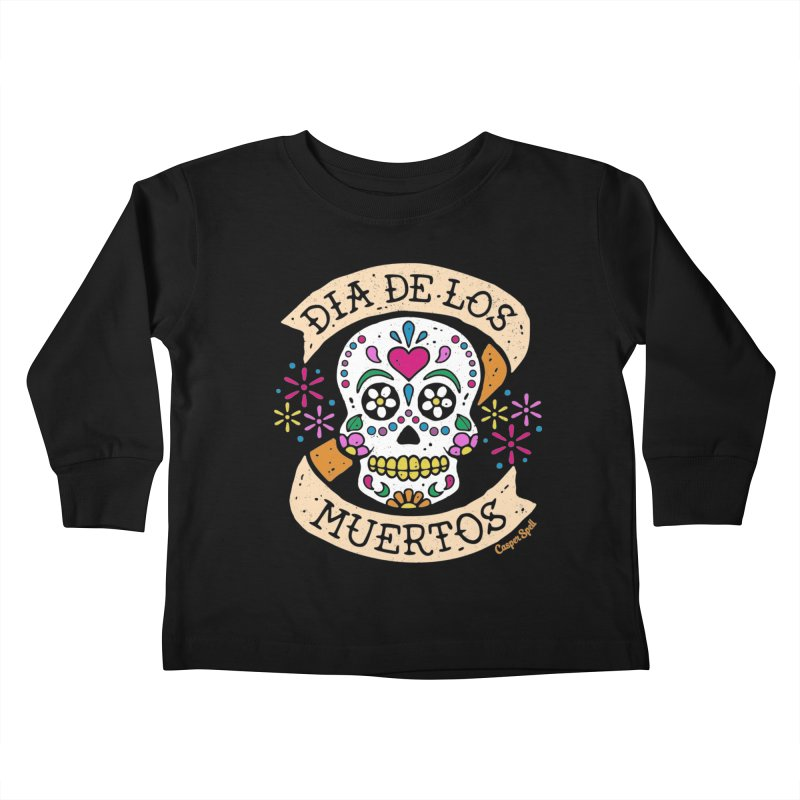 Day of the Dead (Dia de los Muertos) Kids Toddler Longsleeve T-Shirt by Casper Spell's Shop