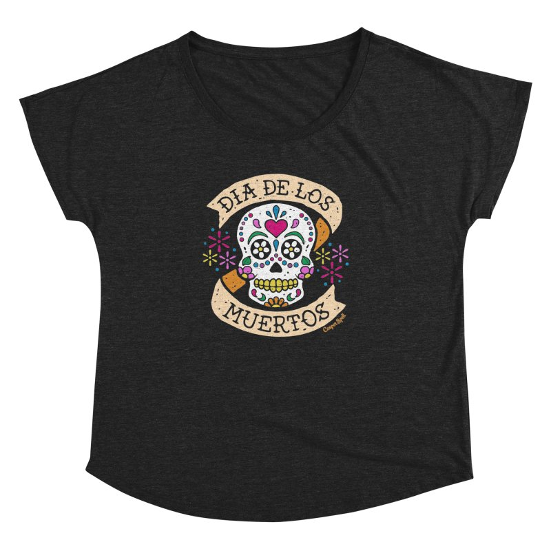 Day of the Dead (Dia de los Muertos) Women's Dolman Scoop Neck by Casper Spell's Shop
