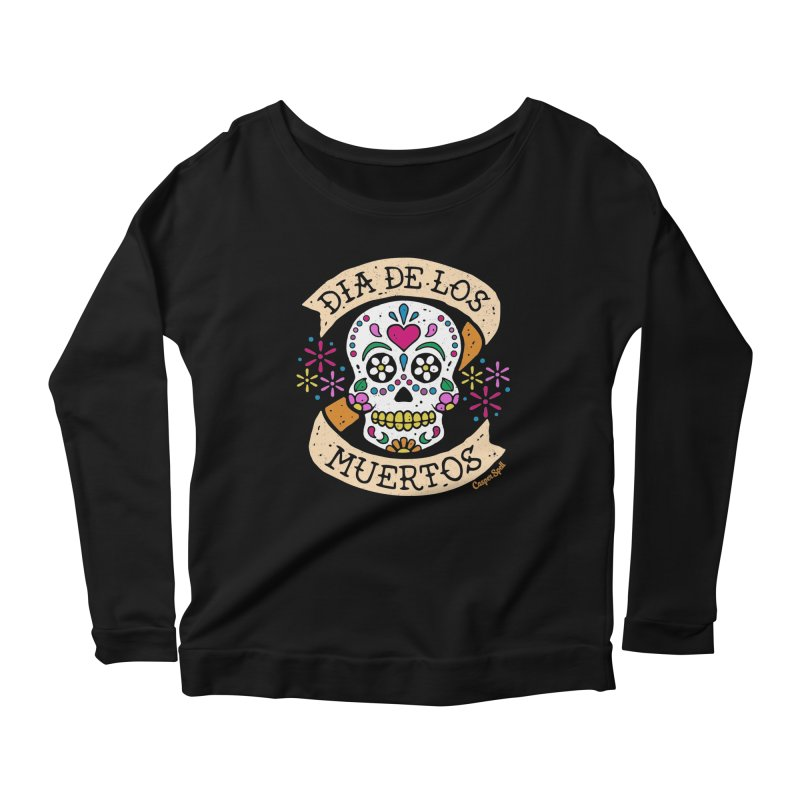 Day of the Dead (Dia de los Muertos) Women's Longsleeve Scoopneck  by Casper Spell's Shop