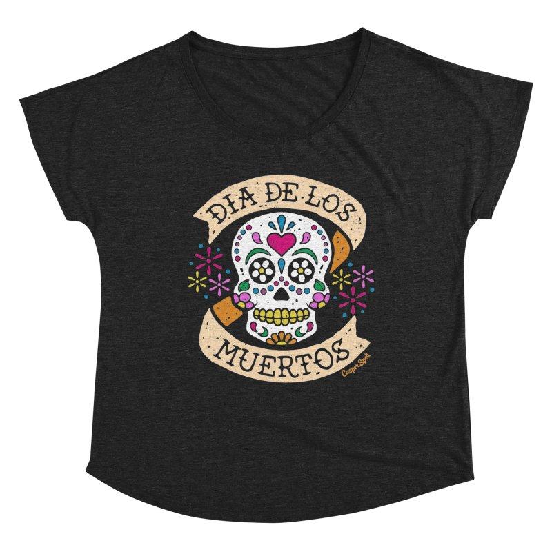 Day of the Dead (Dia de los Muertos) Women's Scoop Neck by Casper Spell's Shop