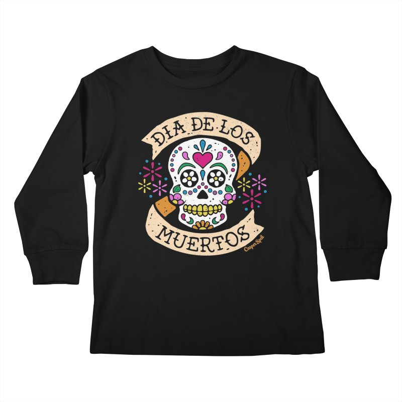 Day of the Dead (Dia de los Muertos) Kids Longsleeve T-Shirt by Casper Spell's Shop
