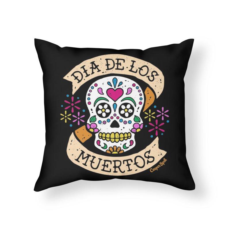 Day of the Dead (Dia de los Muertos) Home Throw Pillow by Casper Spell's Shop