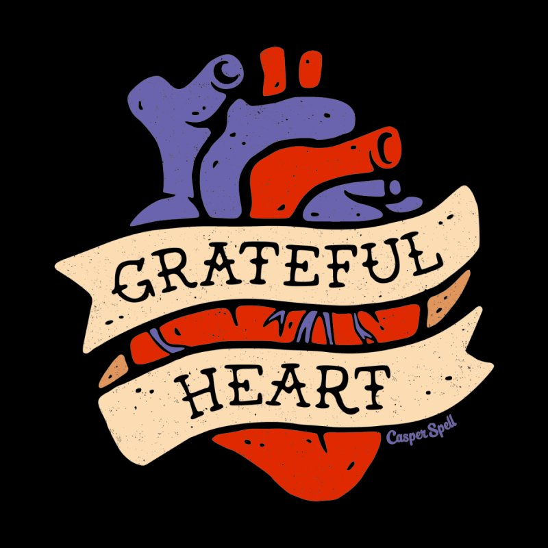 Grateful Heart by Casper Spell Kids Longsleeve T-Shirt by Casper Spell's Shop