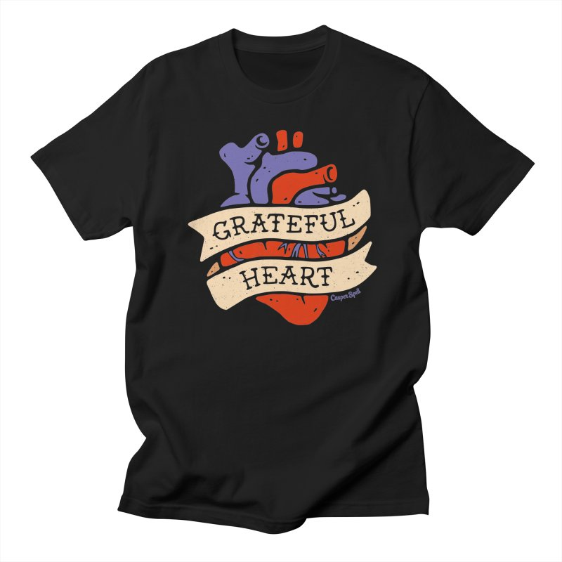 Grateful Heart by Casper Spell Men's T-Shirt by Casper Spell's Shop