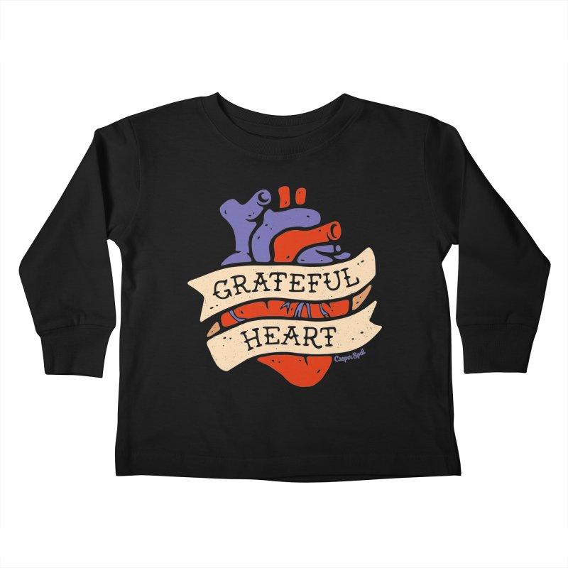 Grateful Heart by Casper Spell Kids Toddler Longsleeve T-Shirt by Casper Spell's Shop