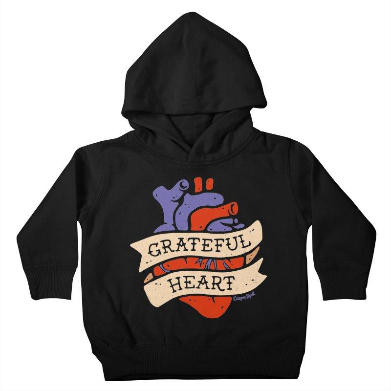 Grateful Heart by Casper Spell Kids Toddler Pullover Hoody by Casper Spell's Shop