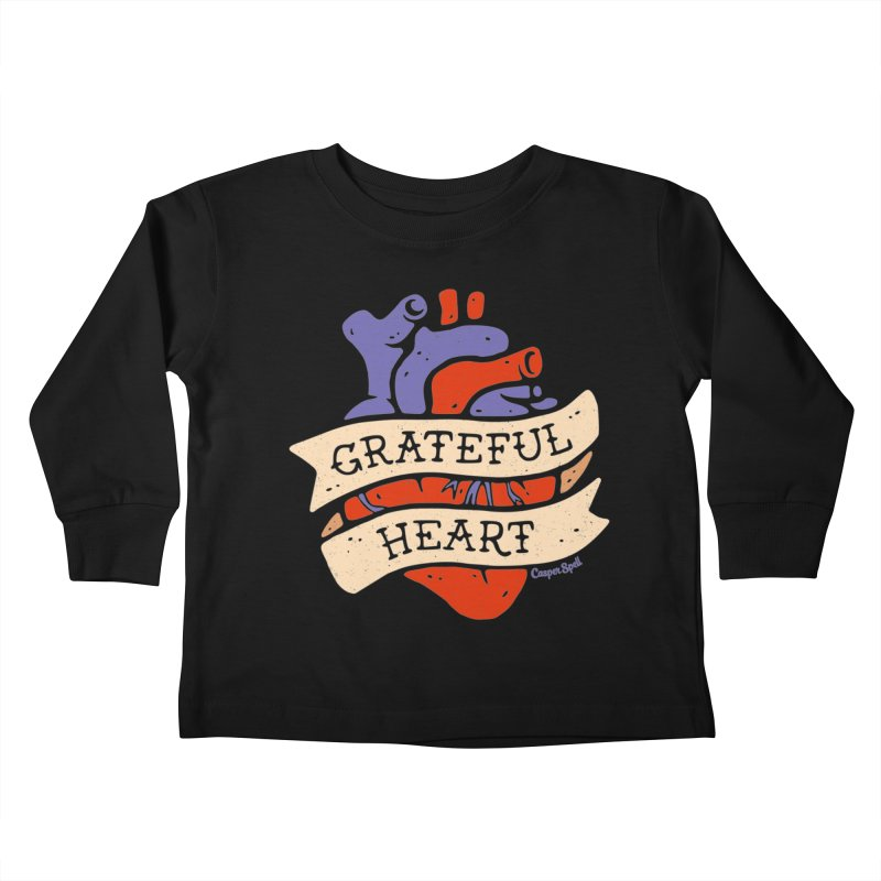 Grateful Heart by Casper Spell Kids Toddler Longsleeve T-Shirt by Casper Spell's Shop