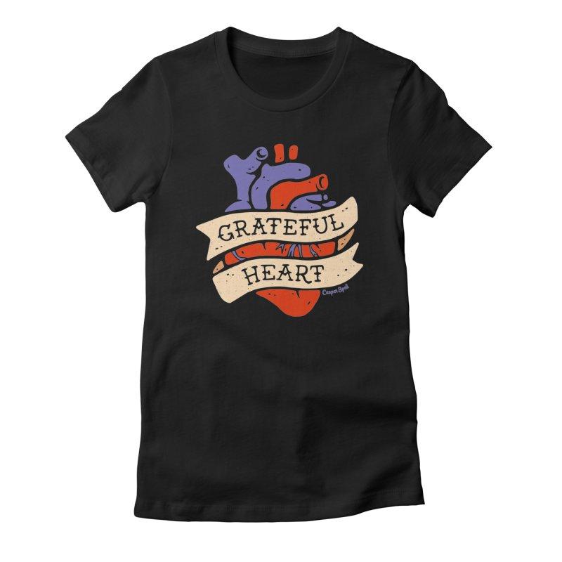 Grateful Heart by Casper Spell Women's T-Shirt by Casper Spell's Shop