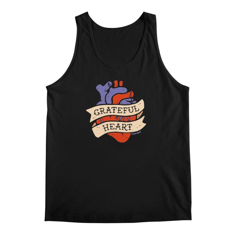 Grateful Heart by Casper Spell Men's Tank by Casper Spell's Shop