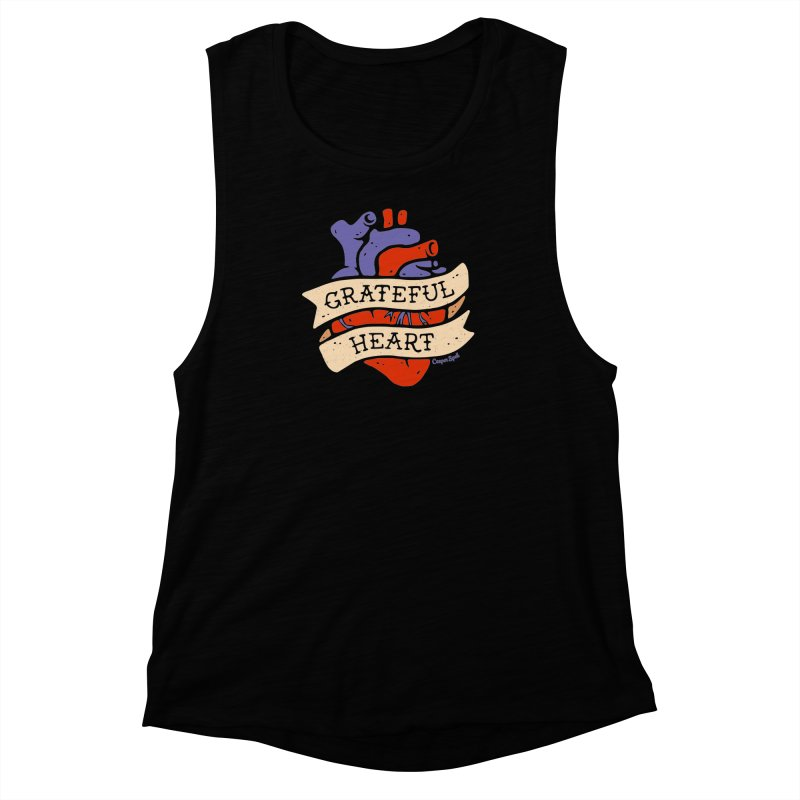Grateful Heart by Casper Spell Women's Muscle Tank by Casper Spell's Shop
