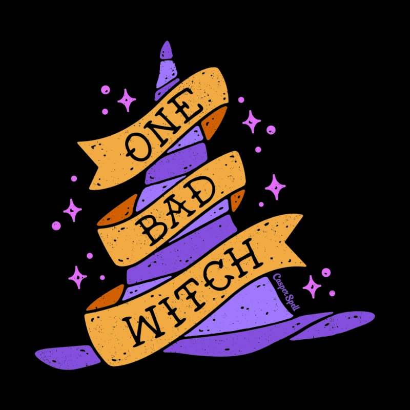 One Bad Witch Men's V-Neck by Casper Spell's Shop