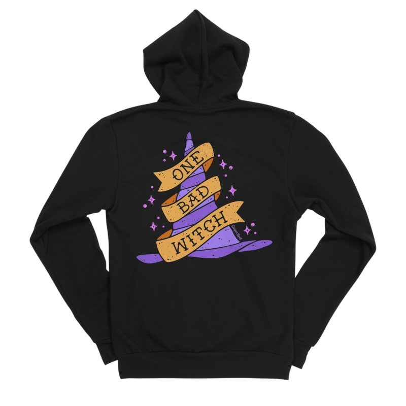 One Bad Witch Men's Zip-Up Hoody by Casper Spell's Shop