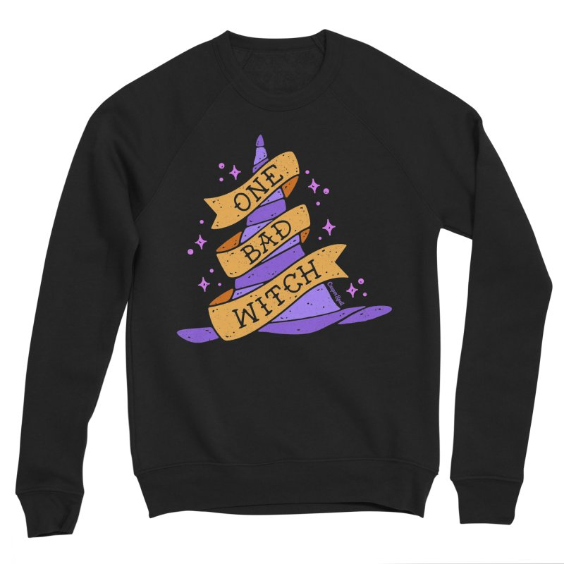 One Bad Witch Men's Sponge Fleece Sweatshirt by Casper Spell's Shop