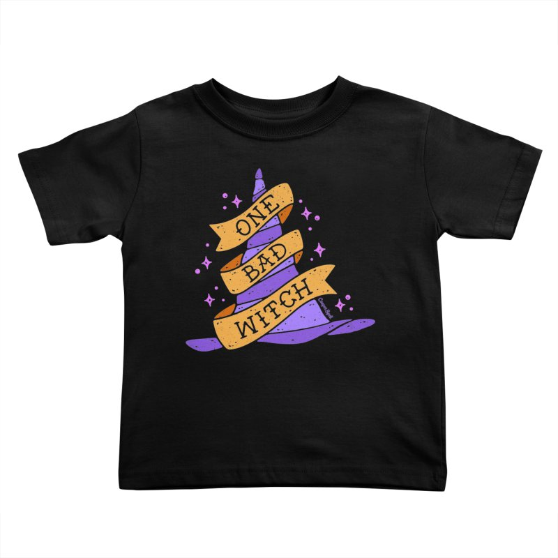 One Bad Witch Kids Toddler T-Shirt by Casper Spell's Shop