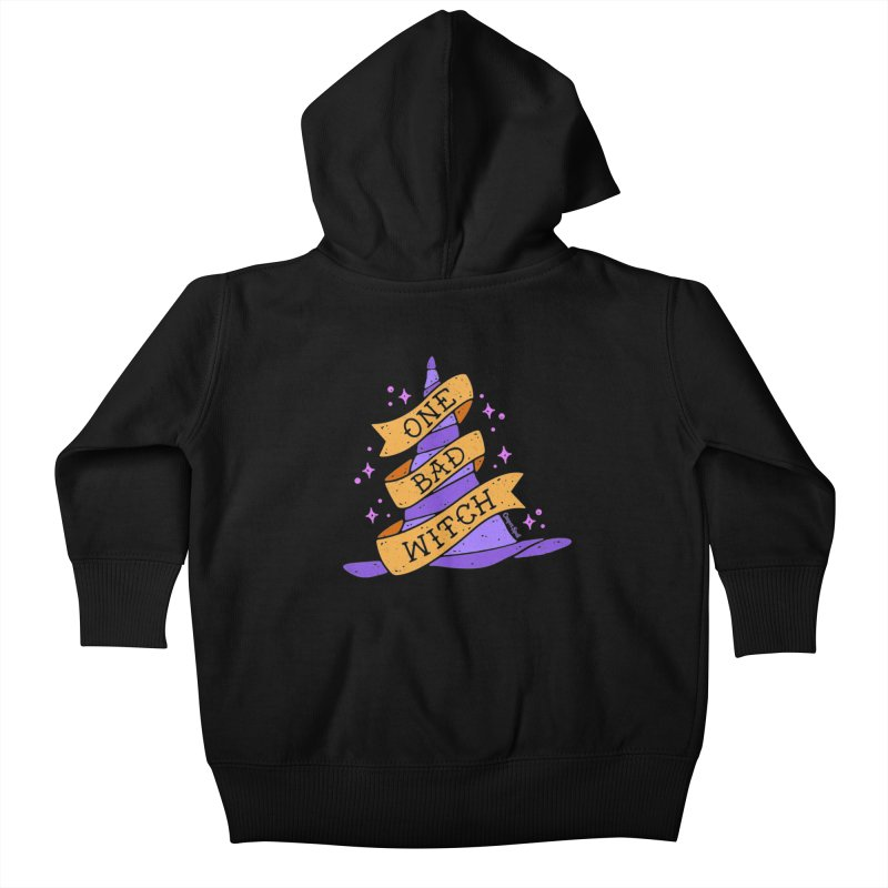 One Bad Witch Kids Baby Zip-Up Hoody by Casper Spell's Shop