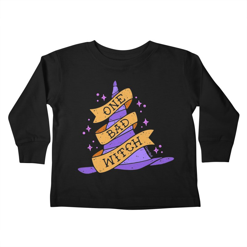 One Bad Witch Kids Toddler Longsleeve T-Shirt by Casper Spell's Shop