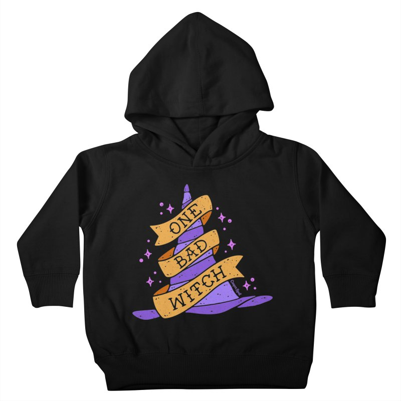 One Bad Witch Kids Toddler Pullover Hoody by Casper Spell's Shop