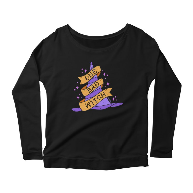 One Bad Witch Women's Longsleeve Scoopneck  by Casper Spell's Shop