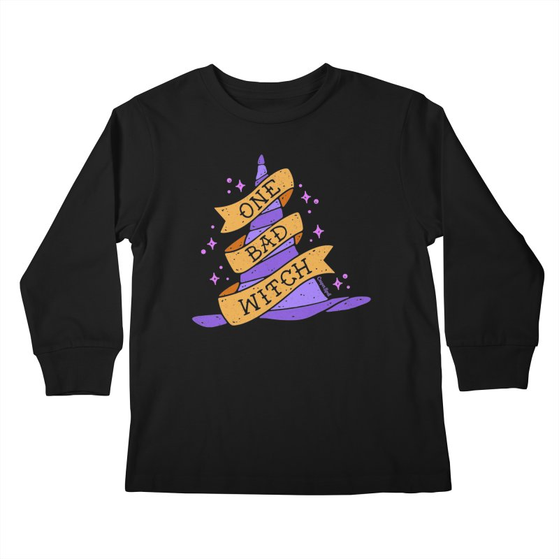 One Bad Witch Kids Longsleeve T-Shirt by Casper Spell's Shop