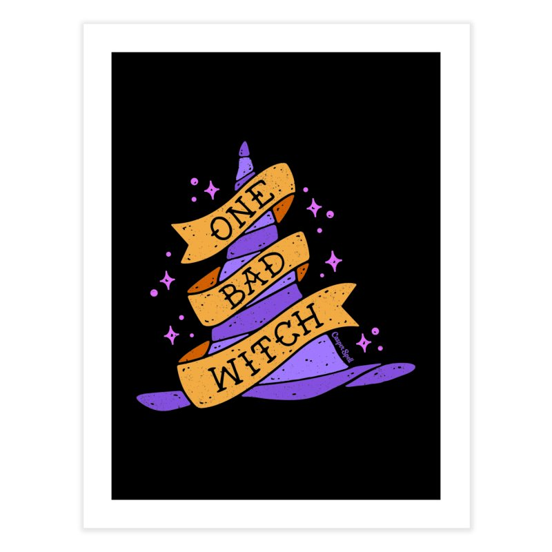 One Bad Witch Home Fine Art Print by Casper Spell's Shop