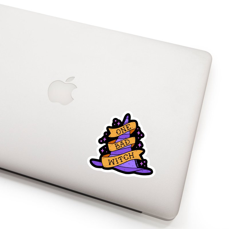 One Bad Witch Accessories Sticker by Casper Spell's Shop