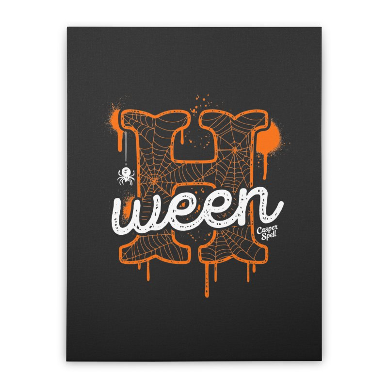 H'ween Home Stretched Canvas by Casper Spell's Shop