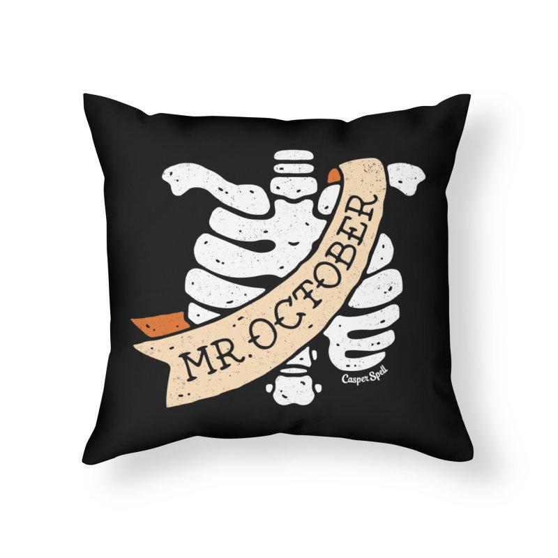 Mr. October by Casper Spell Home Throw Pillow by Casper Spell's Shop