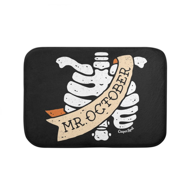 Mr. October by Casper Spell Home Bath Mat by Casper Spell's Shop