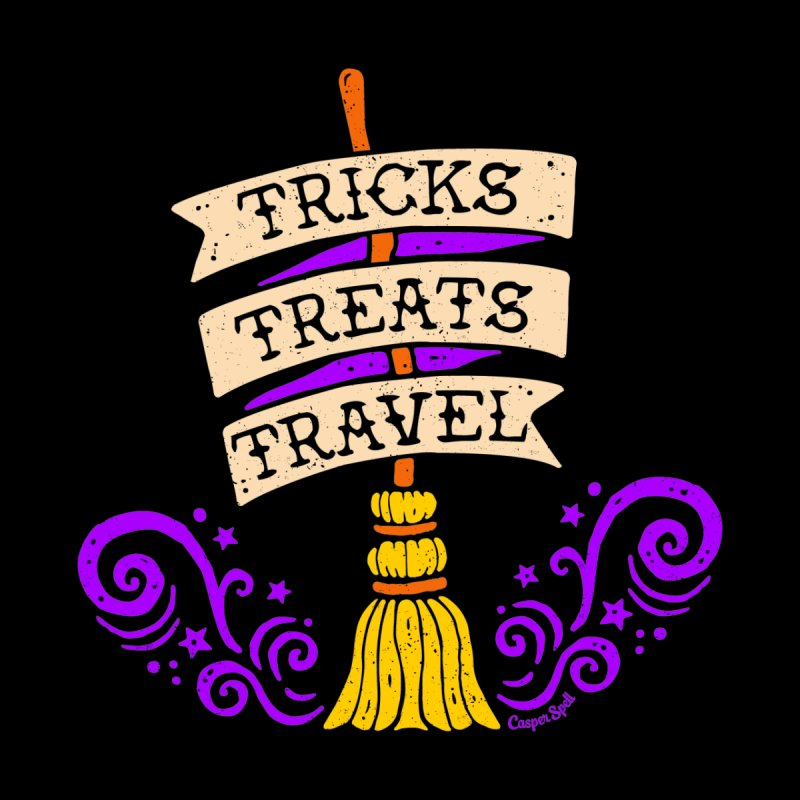 Tricks Treats Travel Women's V-Neck by Casper Spell's Shop
