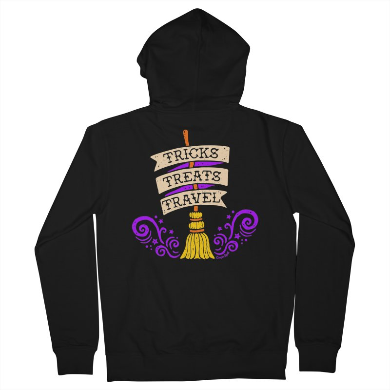 Tricks Treats Travel Women's French Terry Zip-Up Hoody by Casper Spell's Shop