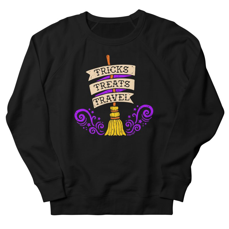 Tricks Treats Travel Women's French Terry Sweatshirt by Casper Spell's Shop