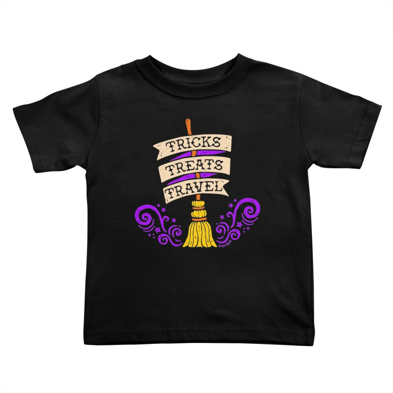 Tricks Treats Travel Kids Toddler T-Shirt by Casper Spell's Shop