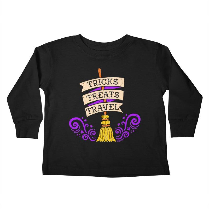 Tricks Treats Travel Kids Toddler Longsleeve T-Shirt by Casper Spell's Shop