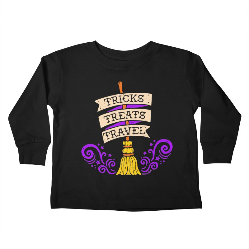 Tricks Treats Travel Kids Toddler Longsleeve T-Shirt by Casper Spell's Shop