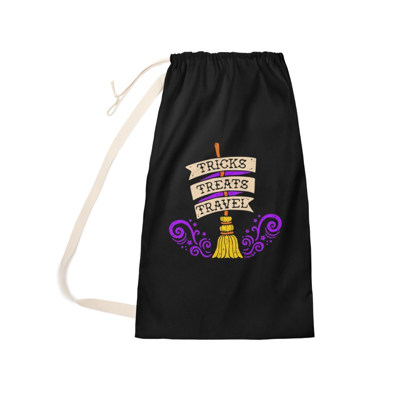 Tricks Treats Travel Accessories Laundry Bag Bag by Casper Spell's Shop
