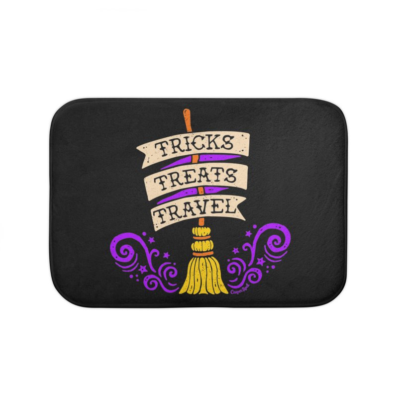 Tricks Treats Travel Home Bath Mat by Casper Spell's Shop