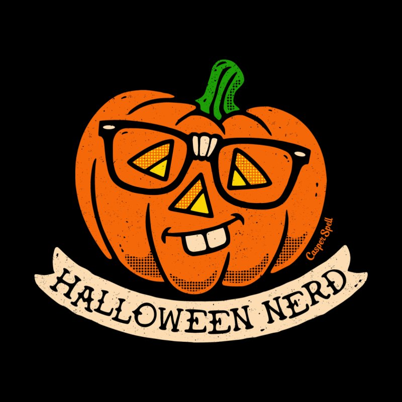 Halloween Nerd Men's V-Neck by Casper Spell's Shop