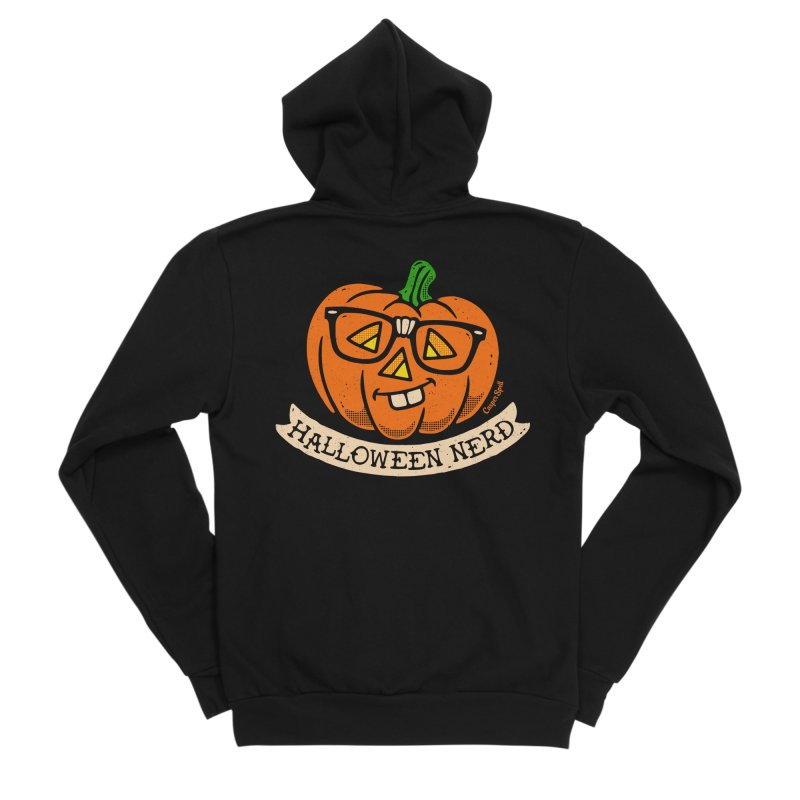 Halloween Nerd Men's Sponge Fleece Zip-Up Hoody by Casper Spell's Shop