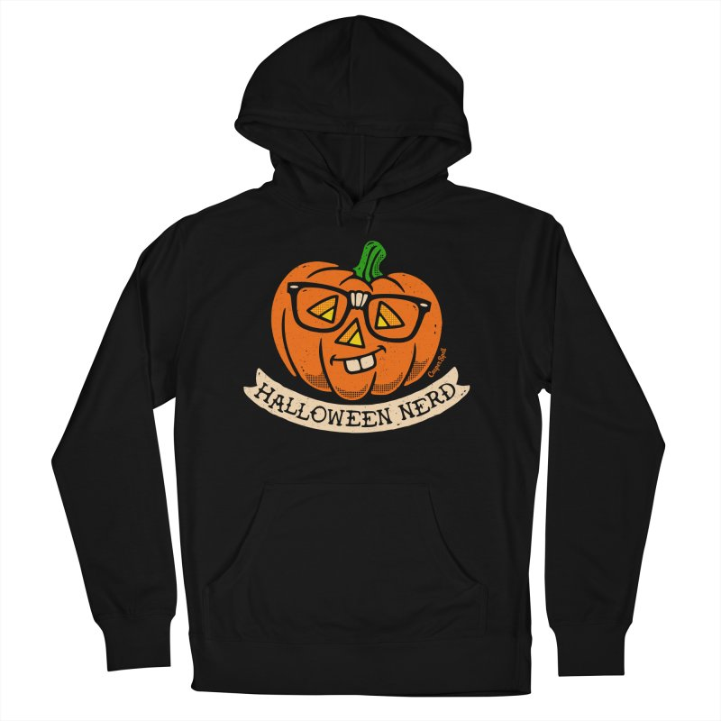 Halloween Nerd Men's French Terry Pullover Hoody by Casper Spell's Shop
