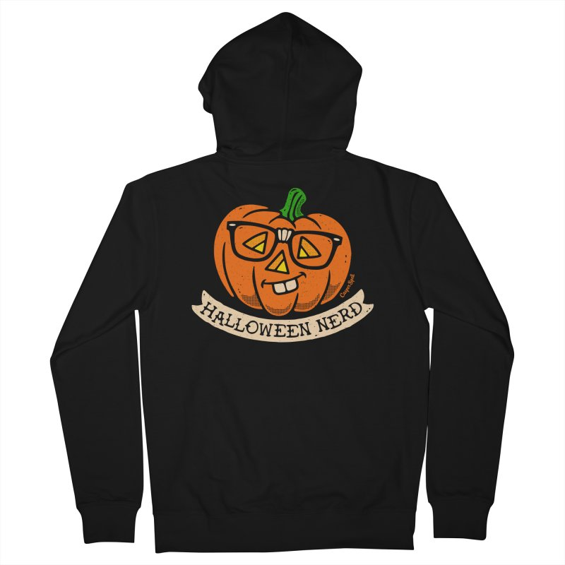 Halloween Nerd Men's French Terry Zip-Up Hoody by Casper Spell's Shop