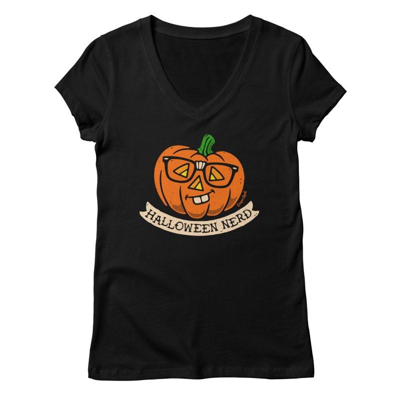 Halloween Nerd Women's V-Neck by Casper Spell's Shop