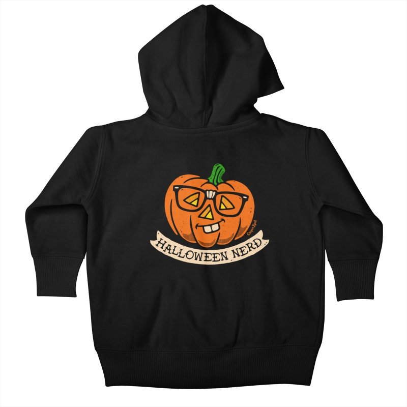 Halloween Nerd Kids Baby Zip-Up Hoody by Casper Spell's Shop