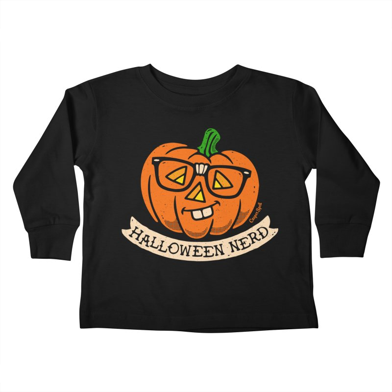 Halloween Nerd Kids Toddler Longsleeve T-Shirt by Casper Spell's Shop