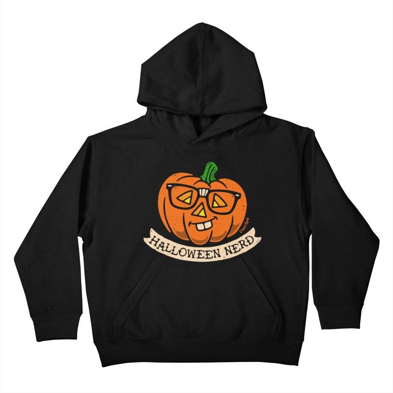 Halloween Nerd Kids Pullover Hoody by Casper Spell's Shop