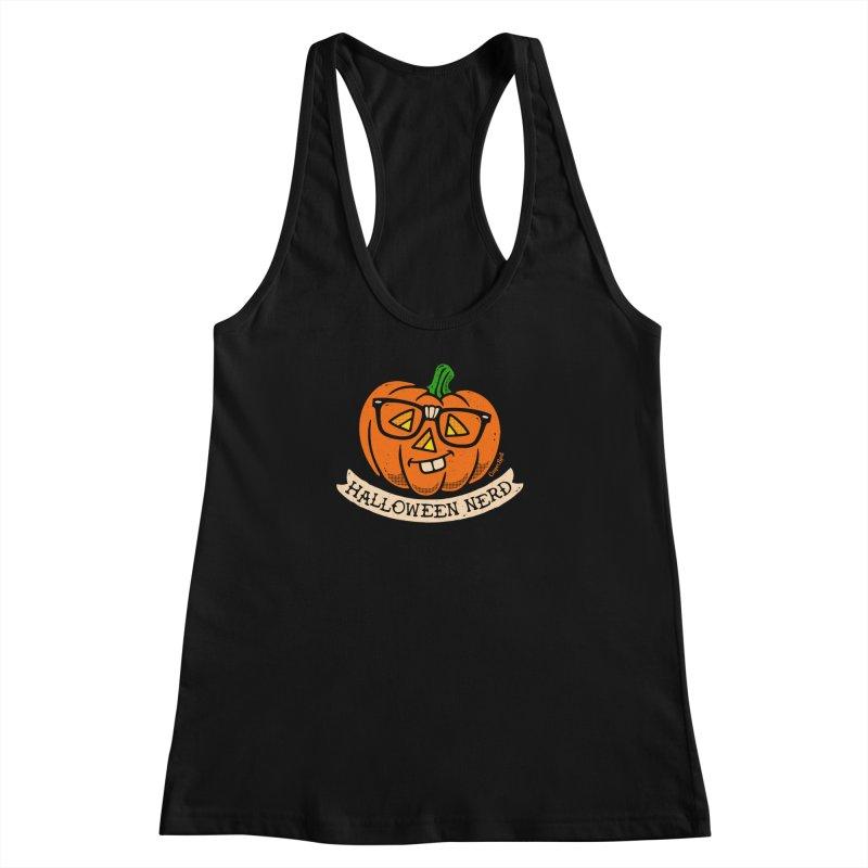 Halloween Nerd Women's Racerback Tank by Casper Spell's Shop